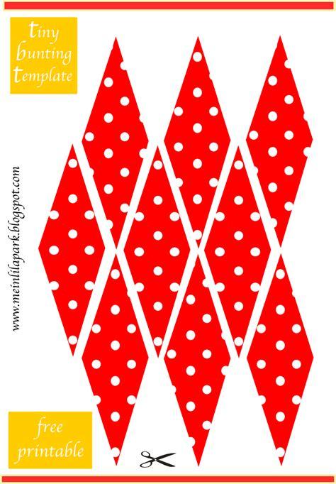 card bunting template free printable mini bunting polka dot bunting