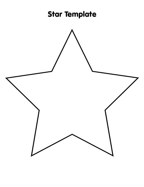 printable big star best photos of printable star pattern printable star