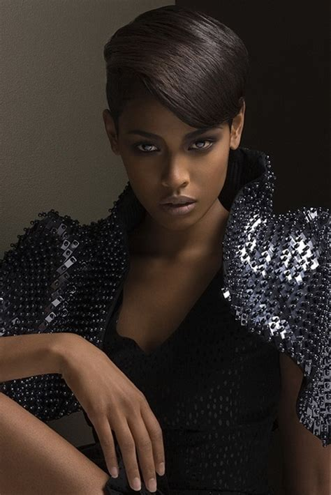 black female models with short hair cute hairstyles for black girls with short hair