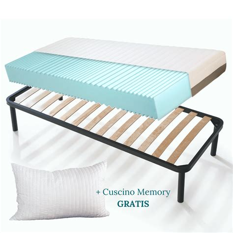 materassi e cuscini kit rete e materasso memory foam alto 20 cm con cuscini