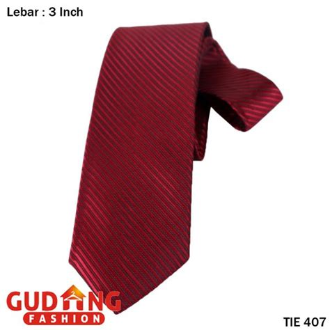 Dasi Motif Kotak Kotak Maroon dasi polos pria katun merah maroon tie 407 gudang fashion