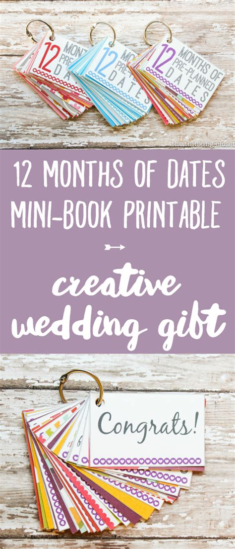 Wedding Anniversary Gift Schedule by 12 Months Of Pre Planned Dates Creative Wedding Gift Idea