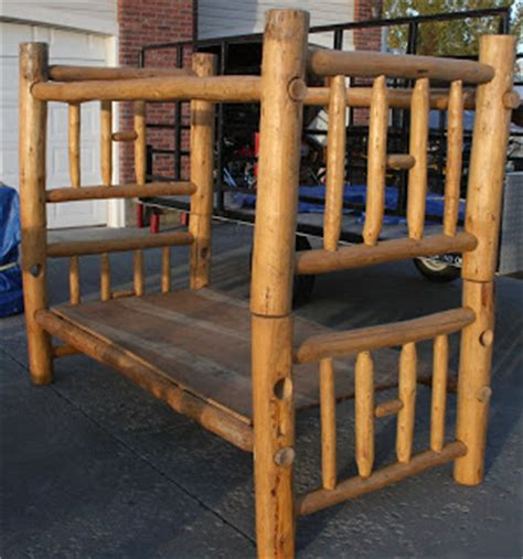 Pine Log Bunk Beds Garage Sale Pine Log Bunk Beds Can Be Used As Two Single Beds