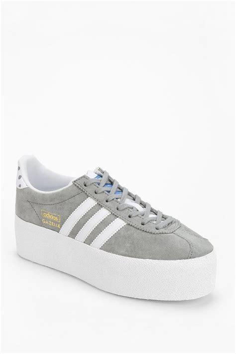 platform adidas sneakers adidas gazelle platform sneaker in gray lyst