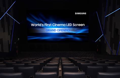 samsung lade led samsung debuts world s cinema led display samsung