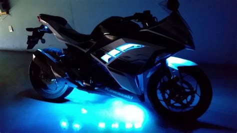 are underglow lights illegal in texas underglow for a kawasaki ninja 300 youtube