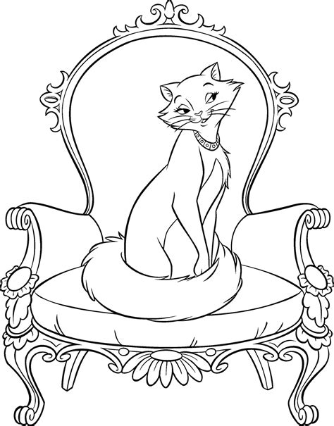 Aristocats Coloring Pages Free Coloring Part 2 Printable Color Page