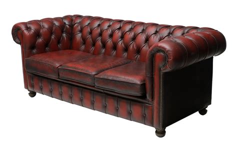 English Chesterfield Buttoned Red Leather Sofa Fantastic Buttoned Leather Sofa