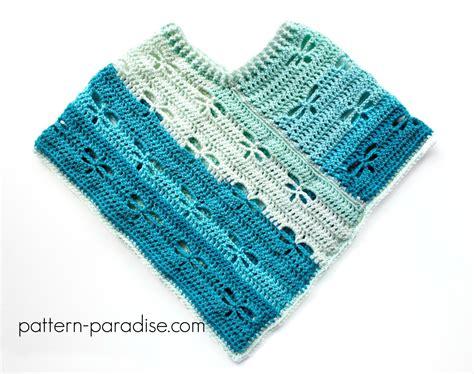 free crochet pattern dragonfly poncho child pattern paradise