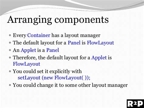 layout manager for applet awt