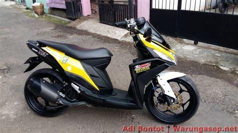 modifikasi yamaha mio   jadi maxi scooter ala