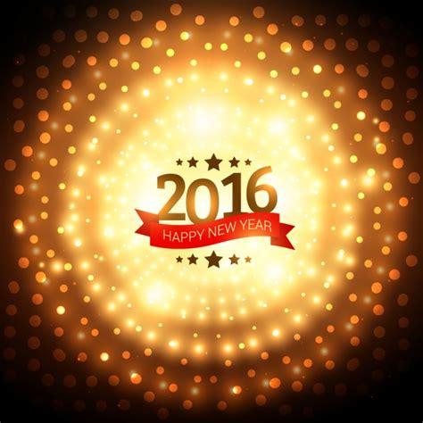 new year light up 2016 background of new year 2016 with golden lights vector