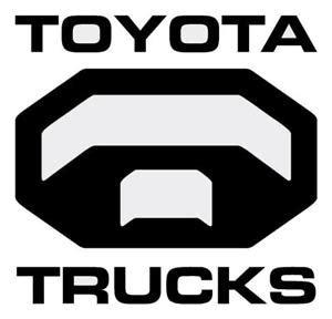 toyota trucks logo toyota truck logo die cut decal for rear window ebay