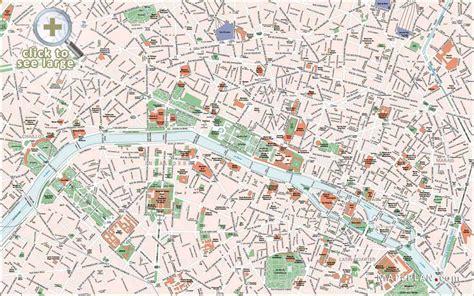 printable street map paris things to do in paris map