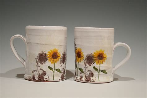 Handmade Pottery At Home - sunflower mug by justin rothshank ceramic mug artful home
