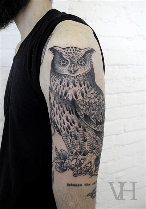 owl tattoo half sleeve animal tattoos and designs page 35