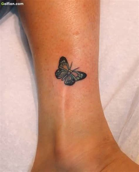 small butterfly foot tattoos 50 lovely ankle butterfly tattoos designs small 3d