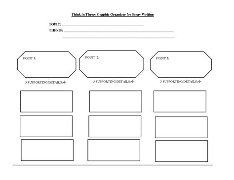 Essay Graphic Organizer Template by Writing Graphic Organizer Graphic Organizers For Writing
