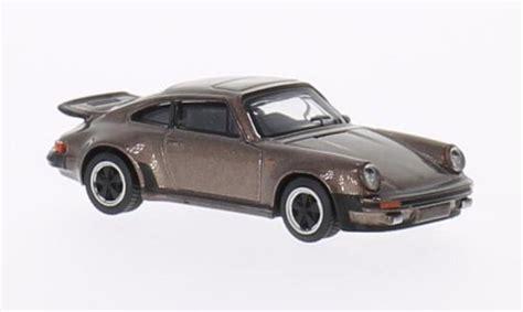 Die Cast 1 87 Porche 256b 1959 porsche 911 turbo 3 0 braun schuco diecast model car 1 64