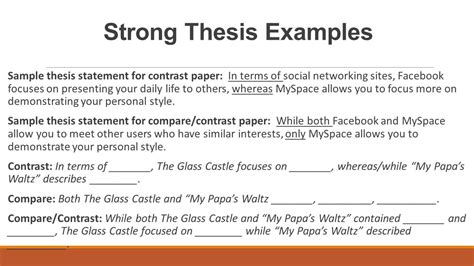 comparative thesis exles compare contrast essay structure ppt