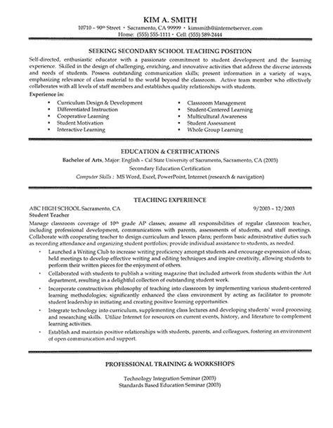 smart resume format examples sample resumes teacher teaching job