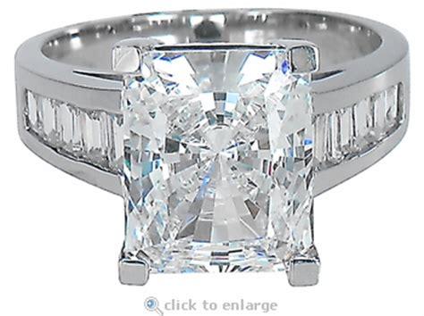 emerson 4 carat radiant emerald cut cubic zirconia channel