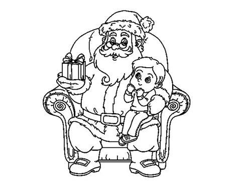 dibujos de navidad para colorear papa noel dibujo de pap 225 noel y ni 241 o en navidad para colorear