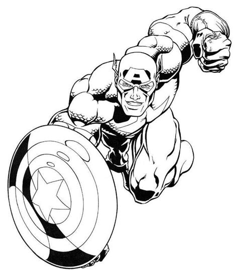 Free Coloring Pages Of Lego Captain America Captain America Color Page