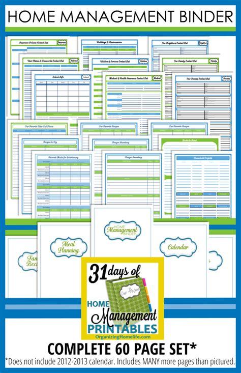 printable household organizer printable home planner organizing home management binder