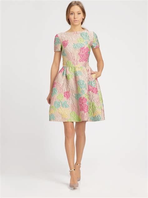 Dress Of The Day Jacquard Dress by Valentino Jacquard Dress In Multicolor Lyst