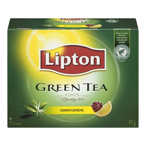 Teh Lipton Green Tea lipton green tea lemon ginseng tea bags reviews in tea