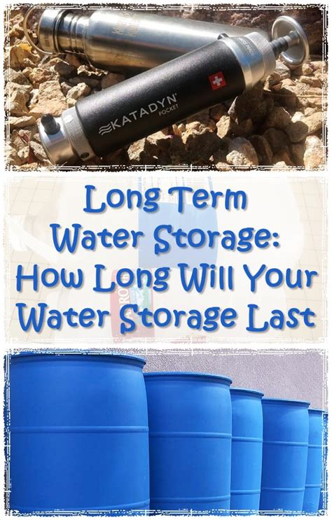 Term Water Storage How Will Your Water Storage