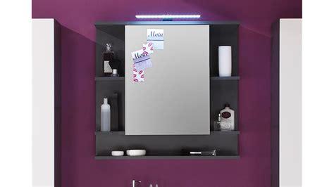 spiegelschrank tetis schrank bad spiegel badm 246 bel in graphit - Spiegelschrank Tetis