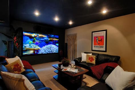 projector or tv for media room media rooms with basement home design inside