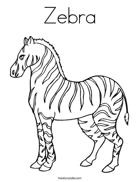zebra coloring page twisty noodle