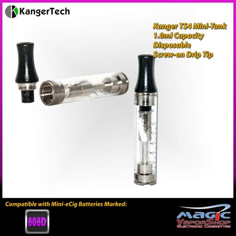 Kangertech T4s Clearomizer Tank 09ml kanger t4s mini disposable refillable clearomizer