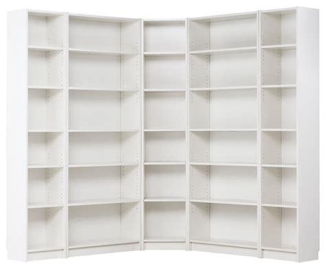 corner bookshelves white billy corner combination white modern bookcases by ikea
