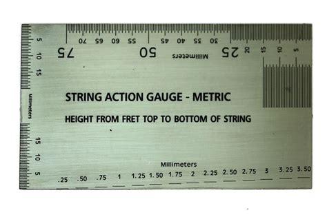 printable guitar ruler string action gauge metric ebay