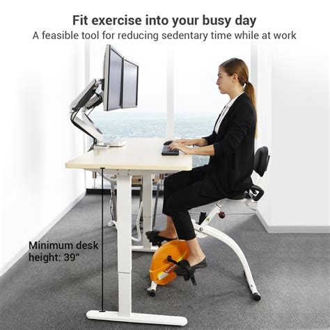 exercise bike with laptop desk loctek store loctek u1 fitness under desk magnetic