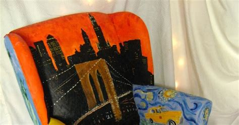 nu life upholstery art and life painted upholstery chair new york city theme