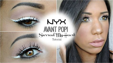 Nyx Eyeliner White nyx avant pop surreal my white liner