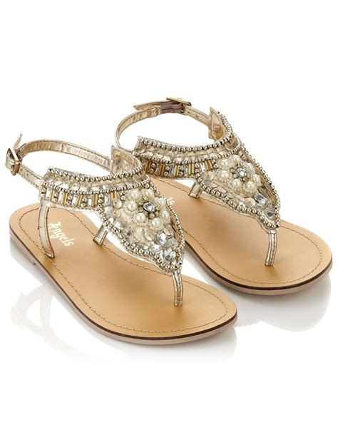 accessorize shoes gold beaded sandals gold accessorize
