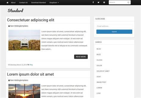 blog themes with ad space standard responsive blogger template 2014 blogger templates