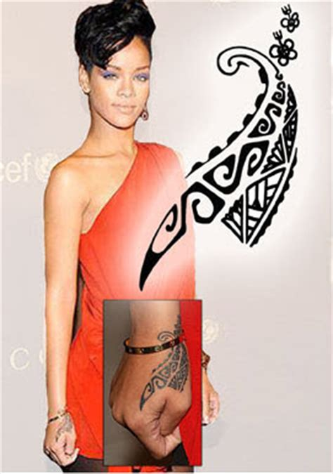 rihanna maori hand tattooforaweek temporary tattoos