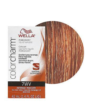 nutmeg hair color wella color charm permament liquid hair color 42ml nutmeg 7wv