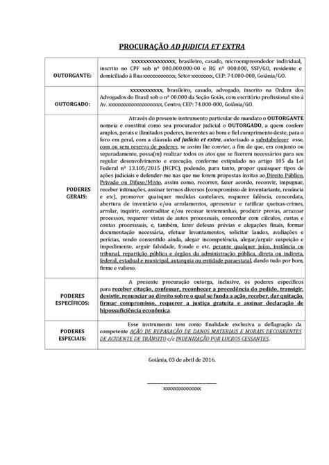 Modelo de Procuração pelo NCPC