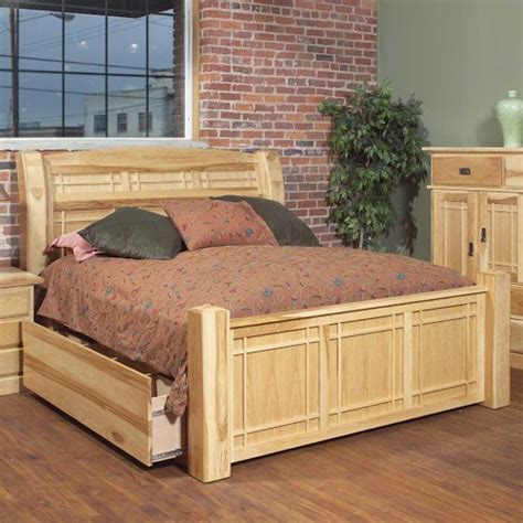 amish storage bed aamerica amish highlands queen arch panel bed w storage
