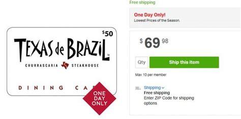 Texas De Brazil Gift Card Promotion - hot deal two 50 texas de brazil gift cards just 69 98 save 30 and free
