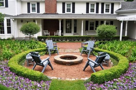 Chiminea Seating Area by 20 Landscaping Backyard Pit Design Ideas Style