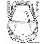 Plansa De Colorat Lamborghini Reventon Sus
